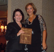 Janet Fiore receives 2010 National Rehabilitation President's Award from Bonnie Hawley National President