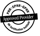 Approved Provider HR Certification Institute seal